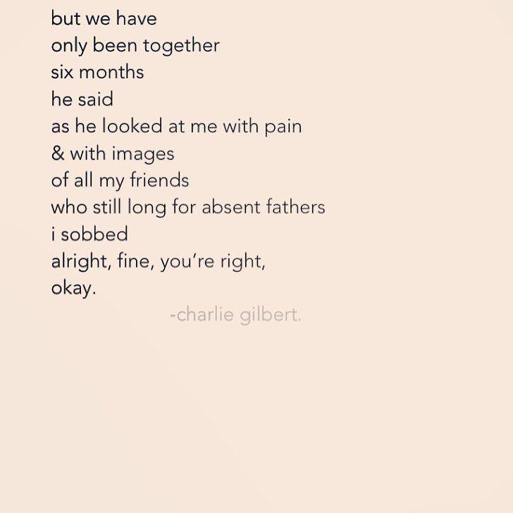 "134 Likes, 2 Comments - charlie gilbert. (@charliegilbertpoetry_) on Instagram: ""• the way he broke me • • • #charliegilbertpoetry #canadianpoetry #instapoetry #rupikaur…"""