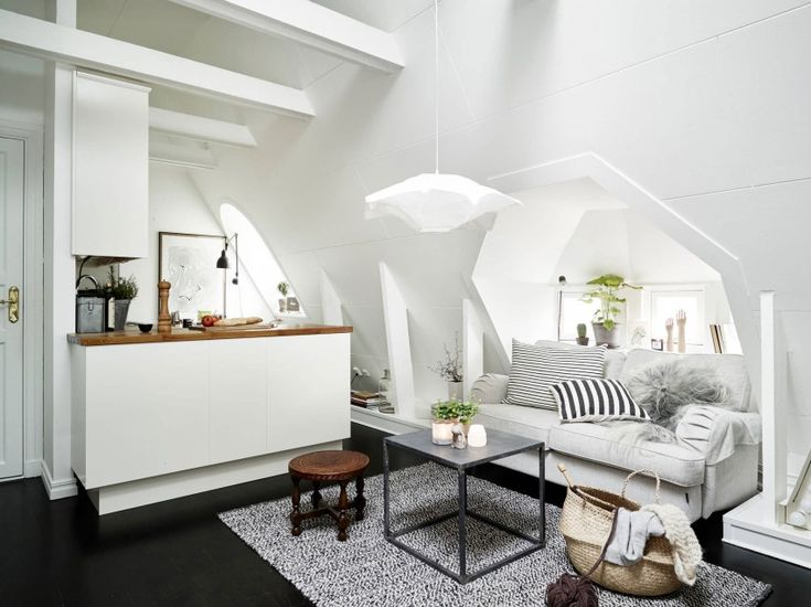 Scandinavian Interior Style: Attic Apartment In Vasastan interior design 2