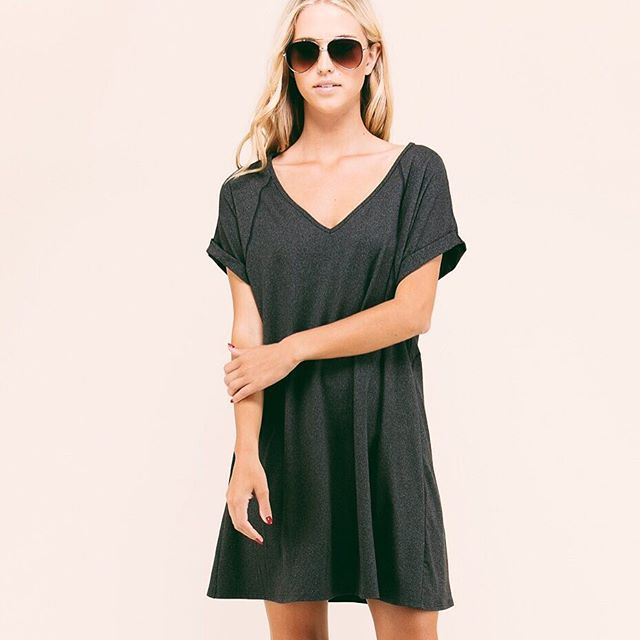 Soft T-shirt dresses are the perfect piece for back to school! 📝