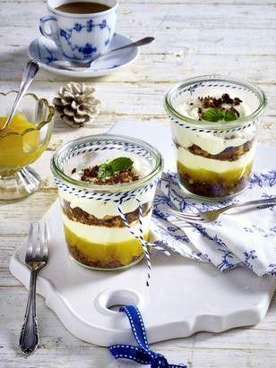 Käsekuchen-Dessert mit Cookies