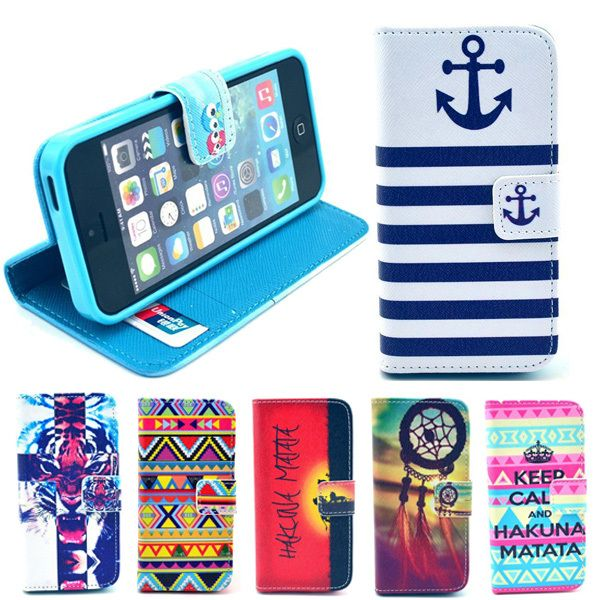 PU Painting Artificial Leahter Cover with Silicon Case Support For Apple iPhone 5 5G 5S 5SE Wallet Type Flip Cover Phone Cases | Price: US $2.96 | http://www.bestali.com/goto/1998382020/10