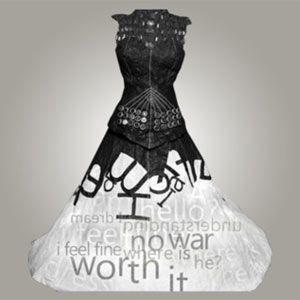 El prototipo explora la intersección de moda y tecnología en un vestido fabricado casi íntegramente con papel y con componentes informáticos