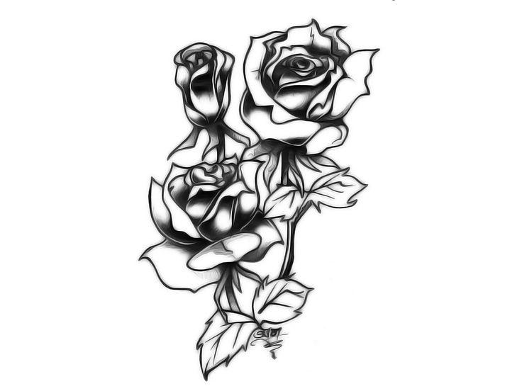 tribal rose tattoos for men | Tribal Rose Tattoos Outline Tribal rose tattoo