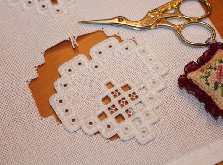 Humming Needles: Finishing The Hardanger Ornaments - Part 1