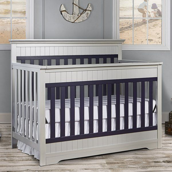 The Dream On Me Chesapeake convertible crib is a Cape Cod style with subtle molding details on the headboard and footboard. This crib offers a long term value converting into a toddler bed with their conversion kit (sold separately), daybed and the back panel converts to a full-size headboard with the simple addition of their wooden bed frame (sold separately). The Chesapeake mattress platform adjusts to three different heights depending on the age of your baby. All Dream On Me cribs meets…