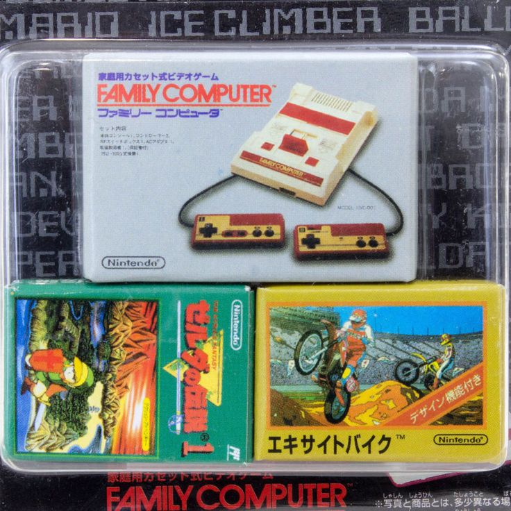 Famicom & Casette in Box Set Miniature Figure Legend of Zelda JAPAN NES NINTENDO