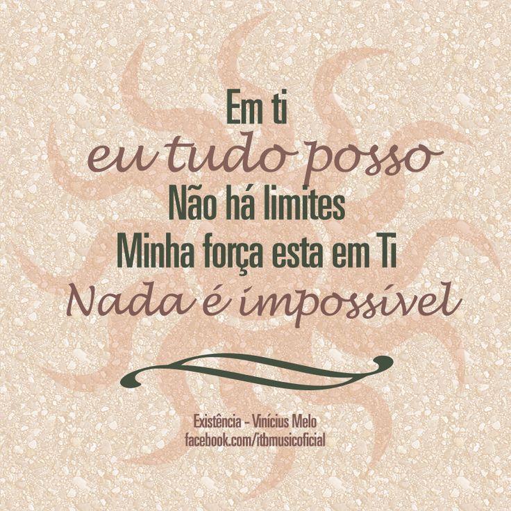 """Música """"Nada é Impossível"""" do CD """"Fé, Esperança e Amor"""" de Vinicius Melo!  Mais sobre o CD:http://itbmusic.com.br/site/releases/fe-esperanca-e-amor/?utm_source=Facebook&utm_medium=Post&utm_content=Imagem+CD&utm_campaign=Releases+ITB  #itbmusic #gospel #musicagospel #adoracao #louvor #viniciusmelo"""