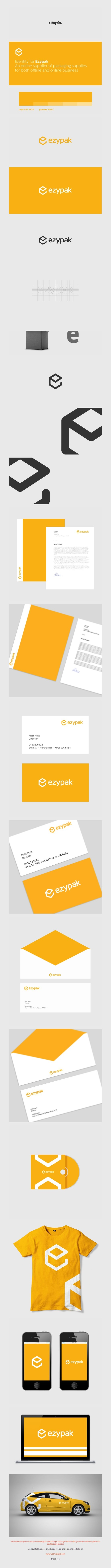 Ezypak logo and corporate identity design by Utopia Branding Agency