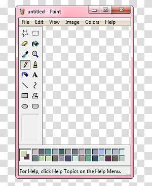 Paint Windows Aesthetic Resources Pink Paint Application Transparent Background Png Clipart Overlays Transparent Clip Art Window Illustration