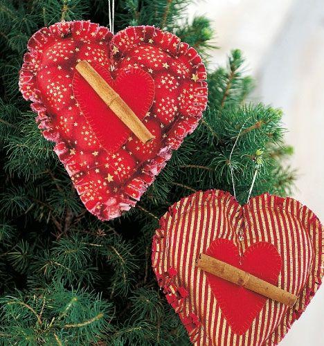 Sy til jul: Hjerte med kanelstang - Hjemmet DK