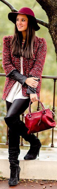 Lady Red  #fallfashion #fallfashion2013