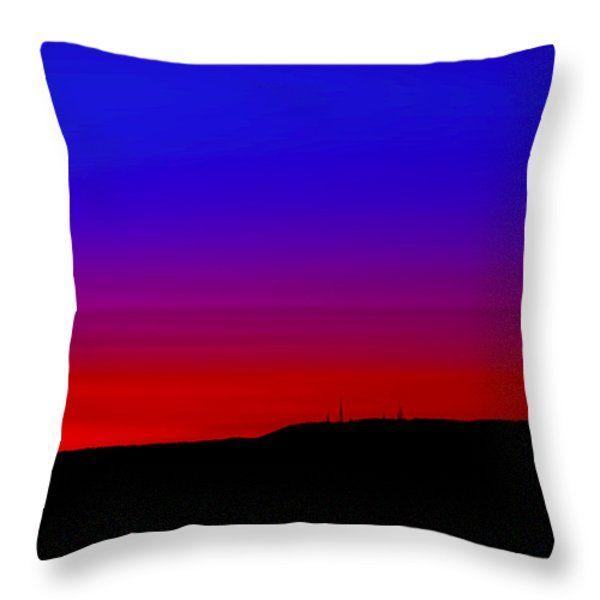 All Throw Pillows - Tramonto rosso e azzurro Throw Pillow by Orazio Puccio #business #b2bmarketing #socialmediamarketing #contentmarketing #marketingtips #digitalmarketing #marketing