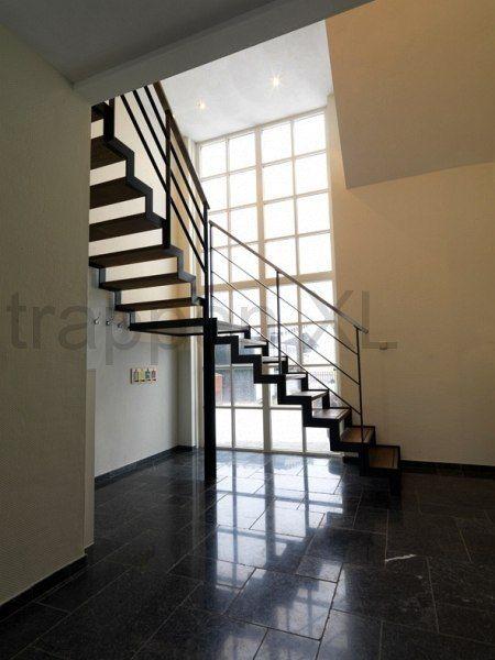 25 beste idee n over moderne trap op pinterest for Bordestrap hout