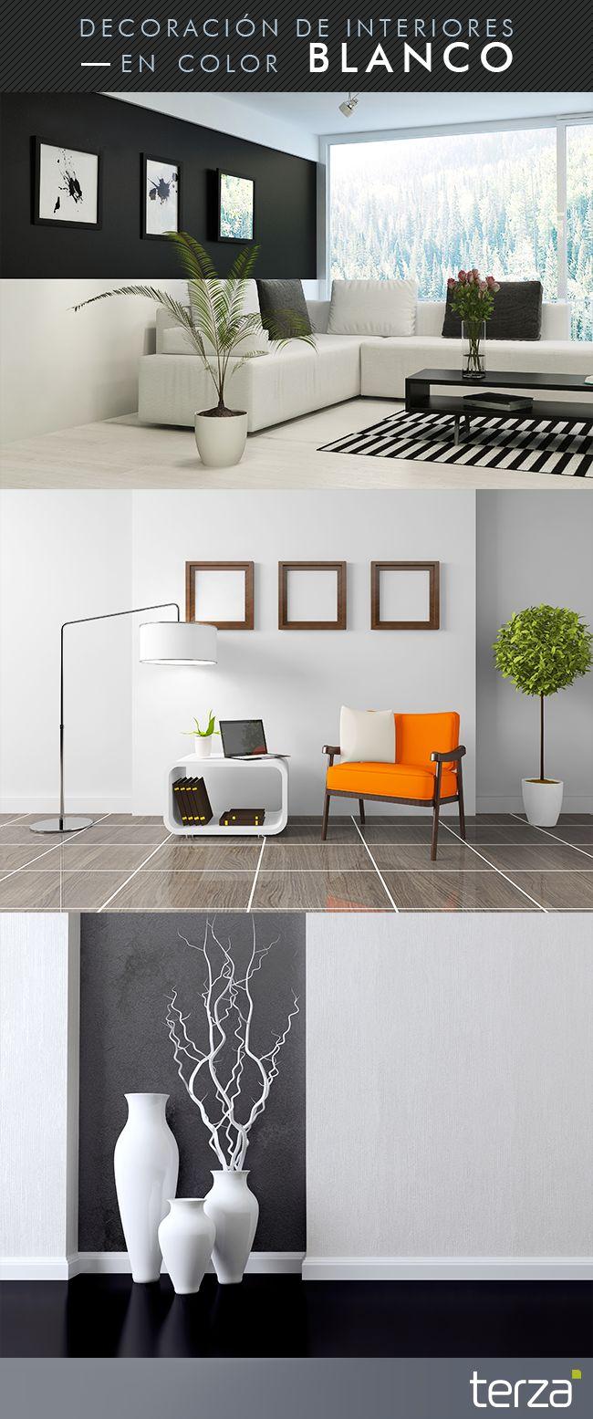 Actualmente la decoración en blanco y negro es muy solicitada en diseños modernos. El blanco generalmente se usa en pintura, pisos y muebles, resultando en ambientes sumamente luminosos.   Te compartimos algunas imágenes que pueden servirte de inspiración.   #CreamosAmbientes