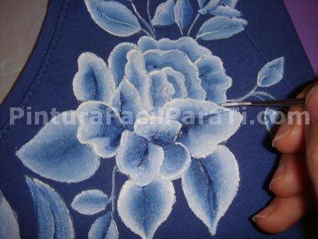 flores pintadas en tela - Buscar con Google