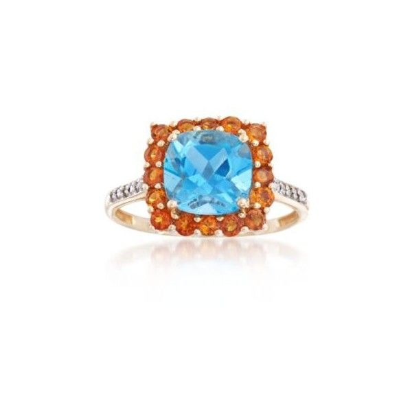 Ross-Simons Orange Citrine Ring, .40ct t.w. (38115 RSD) ❤ liked on Polyvore featuring jewelry, rings, yellow gold, citrine rings, orange citrine ring, ross simons jewelry, orange ring and citrine jewelry