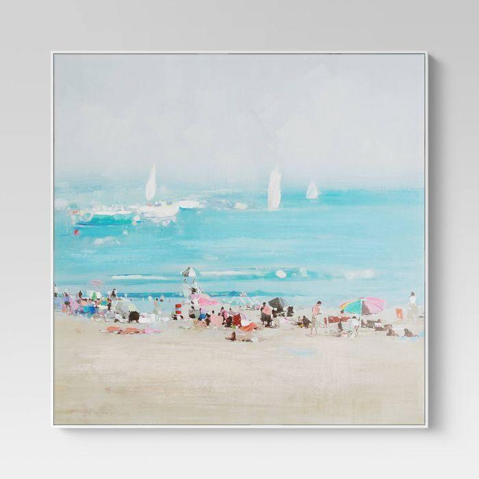 36 X 36 Coastline Framed Wall Canvas Threshold Target Framed Wall Canvas Modern Wall Canvas Canvas Wall Art