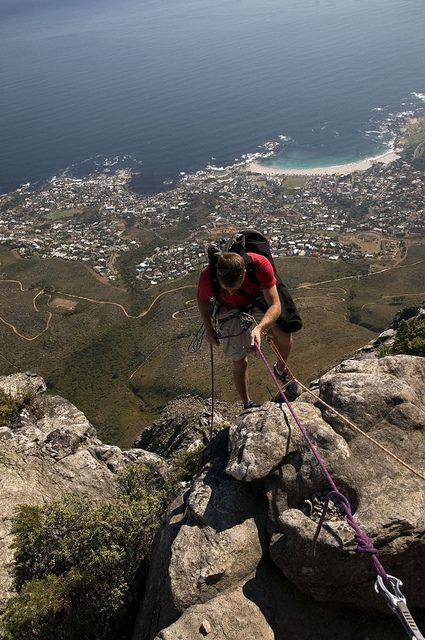 Abseiling in the Table Mountain by South African Tourism