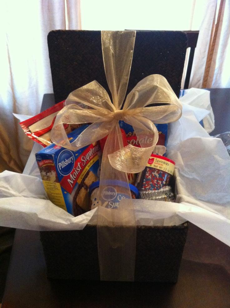 Gift Baskets Toronto Pick Up : Cute housewarming gift pick up a medium sized wicker