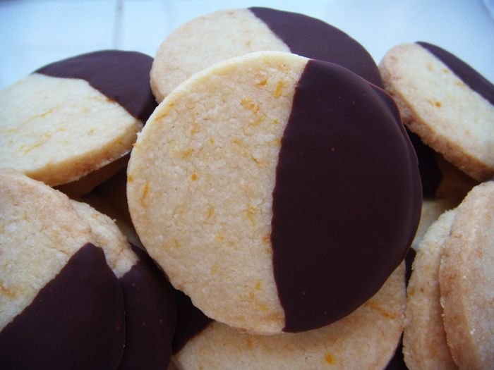 Chocolate-dipped orange cookies: made these and they turned out ...