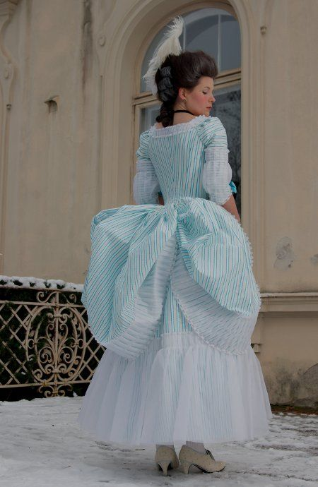 couture mayah's amazing dress, best recreation of the fluffy organza trim fashion plates I've ever seen