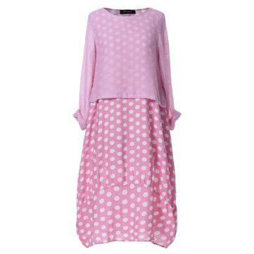 O-NEWE Robe vintage à manches longues et patchwork à imprimé floral avec poch…
