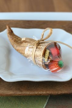 These adorable sugar cone cornucopias are simple to make and just perfect for Thanksgiving!