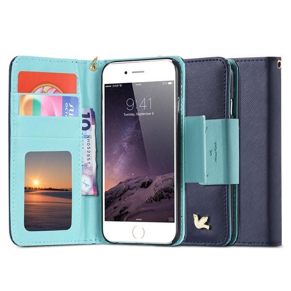 3D Bird Wallet  Iphone 6 6s / Plus Cover Soft PU Leather String + Mirror + Card Holders Retro - Phone Bags & Cases - GeneralStoreProducts4U - 2