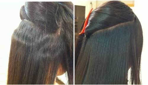 japanese hair straightening steps