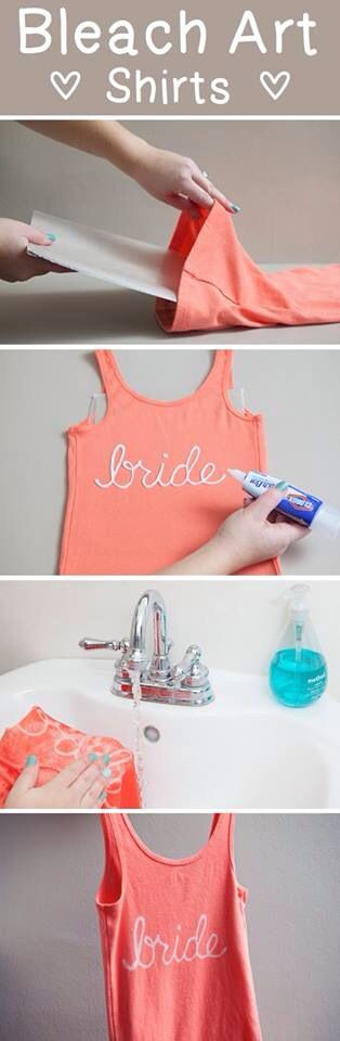Easy wedding DIY project- bridesmaid shirts