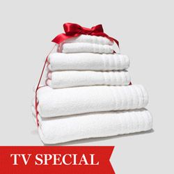 """""""I can never decide what I love more--a bed or a bath. These soft towels combine the best of both worlds. Drying off feels like wrapping yourself in a bath sheet.""""--Oprah"""