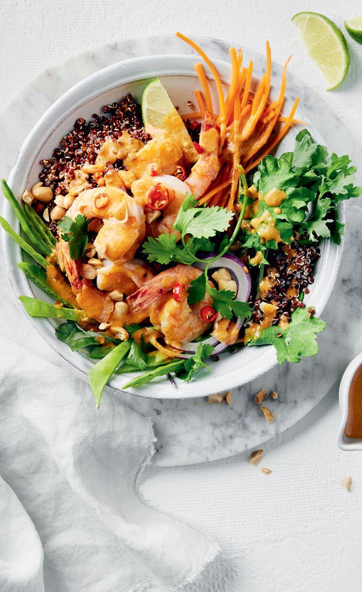 Peanut Shrimp Crunch Bowls Canadian Living Crunch Bowl Nutrition Recipes Food