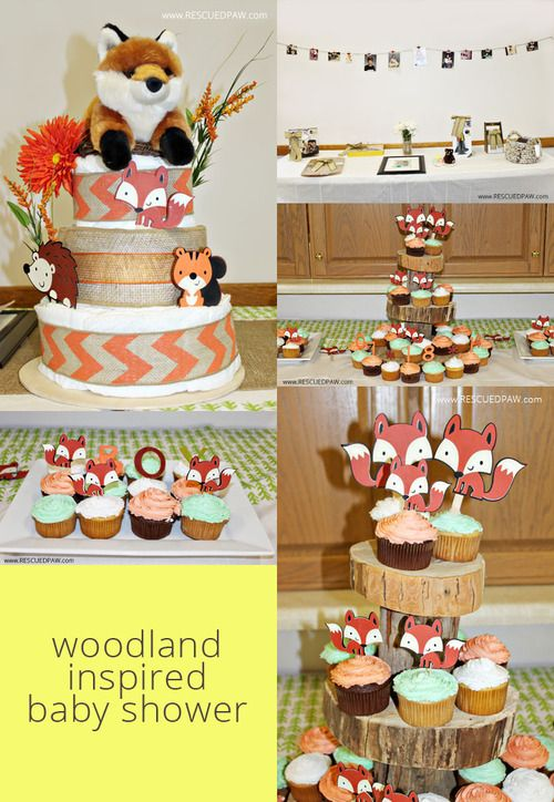 woodland baby showers fox baby themed baby showers baby shower ideas