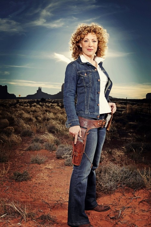 River Song, daughter of Amy Pond and Rory Williams, Wife of The Doctor. Played by Alex Kingston