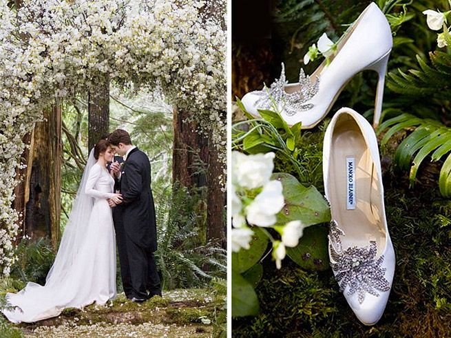 Manolo Blahnik Twilight Wedding Shoes