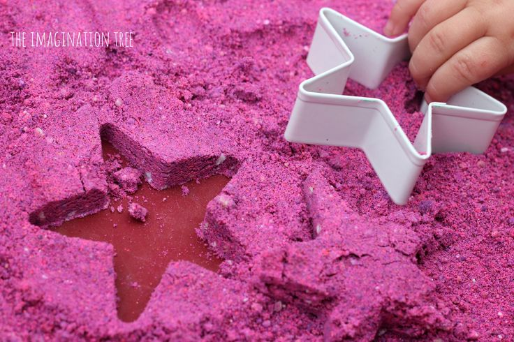 diy toddler learning activities | Home Made Moon Sand Recipe - The Imagination Tree