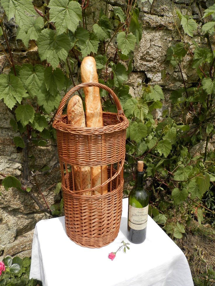 French bread and wine