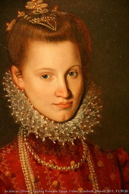 Piccola arricciatura orlata di pizzi (lattuga, golilla, freise) FONTANA Lavinia (1552-1614)