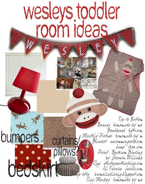 Idea board for Monkey's room OMGGG I JUST DIED-ps I LOVVVEEE  sock monkeys;)