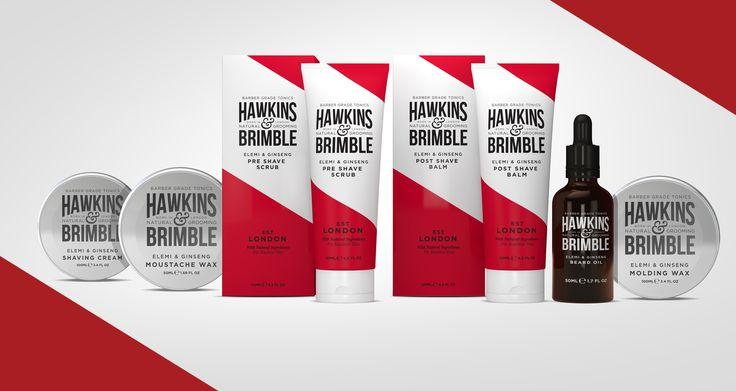 Premium Barber Grooming Range  www.hawkinsandbrimble.co.uk