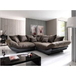 Big sofa rose mega sofa von new look k che for Ecksofa braun beige