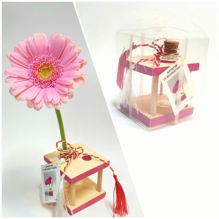 Pen holder with flower container CICLAM