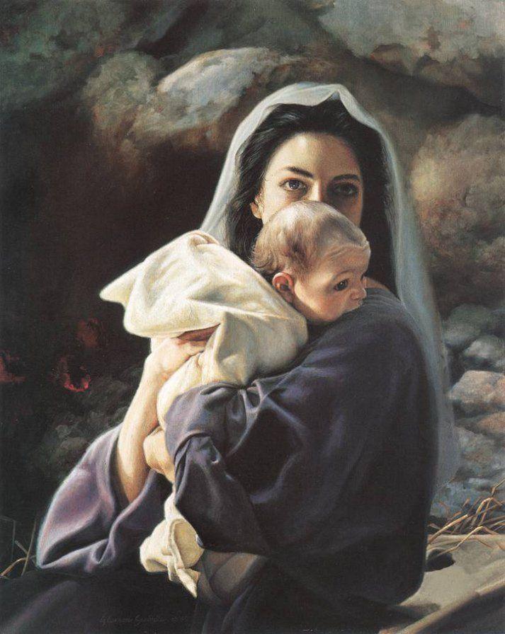 Женские руки, картинки дева мария и иисус