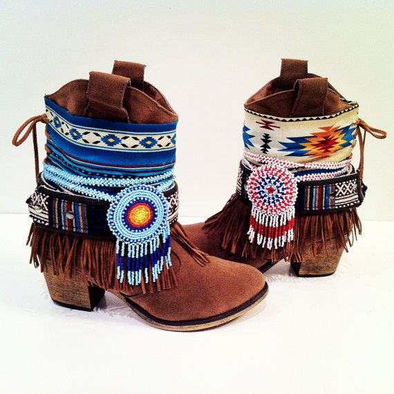 Wilde Boots Born Wilde  size 7 Gypsy Cowgirl by WildeFlowerDesign, $180.00