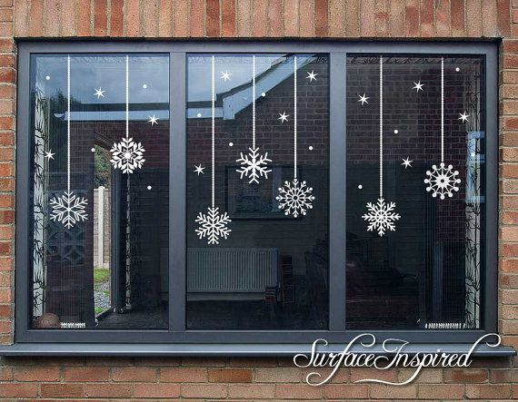 25+ unique Christmas window stickers ideas on Pinterest ...