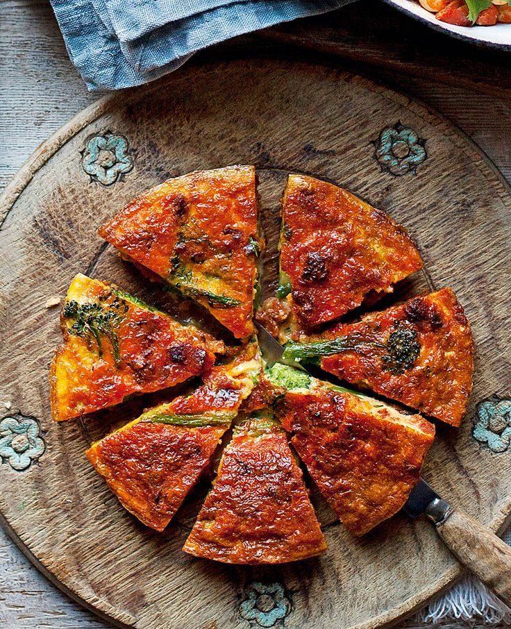 This chorizo and sprouting broccoli frittata (or Spanish omelette) recipe makes a quick and simple midweek dinner.