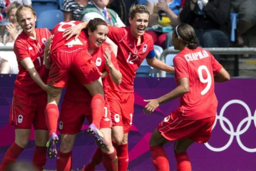 Canadian Women's Soccer Team (2012 Olympic Bronze Medal Celebration)