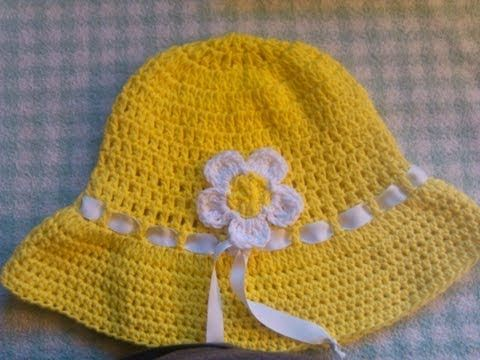 In this full tutorial I will take you step by step on how to crochet this cotton yarn sun hat.  It is perfect for summer to keep the sun off and protect your face.  It is made using cotton yarn, your choice of colors.  Easy to crochet and a fun project.  Use as your daily beach hat.  Summer hat or garden hat.  In no time at all you will have a v...