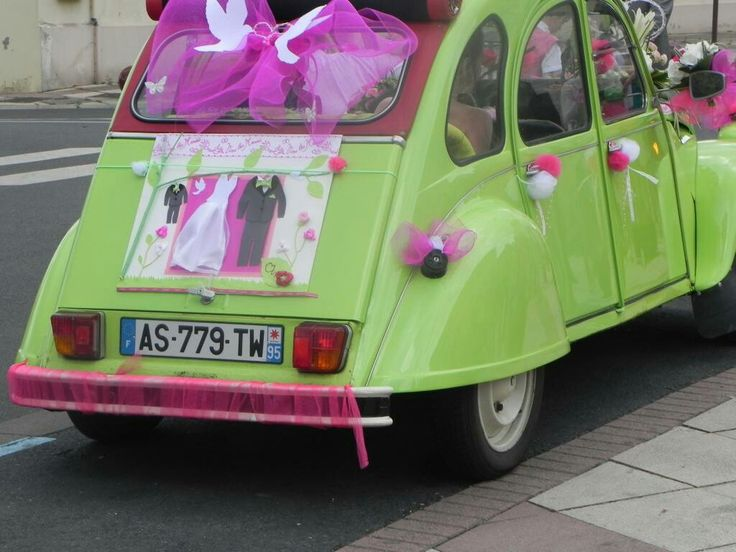 17 best images about deco 2cv mariage on pinterest for Decoration 2cv mariage