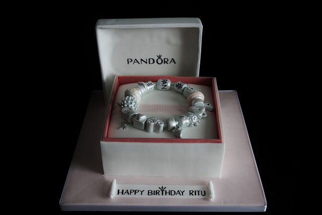 For the true PANDORA lover!  A PANDORA Birthday Cake ... Symphony in Sugar, via Flickr.  How perfectly awesome!!